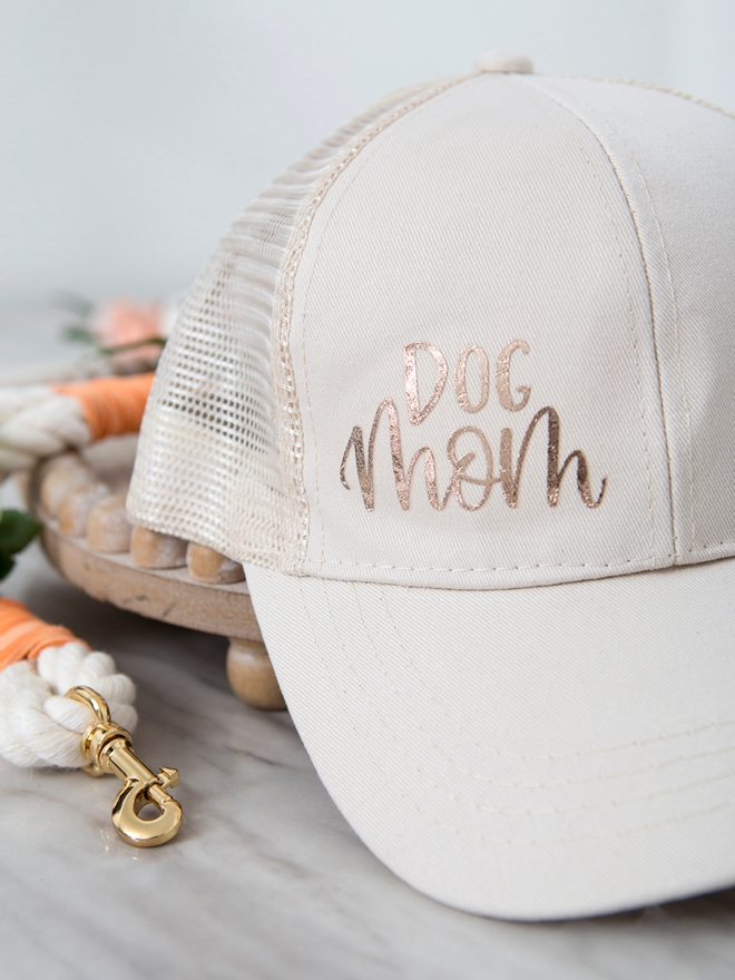 DIY adorable Dog Mom hat using your Cricut!