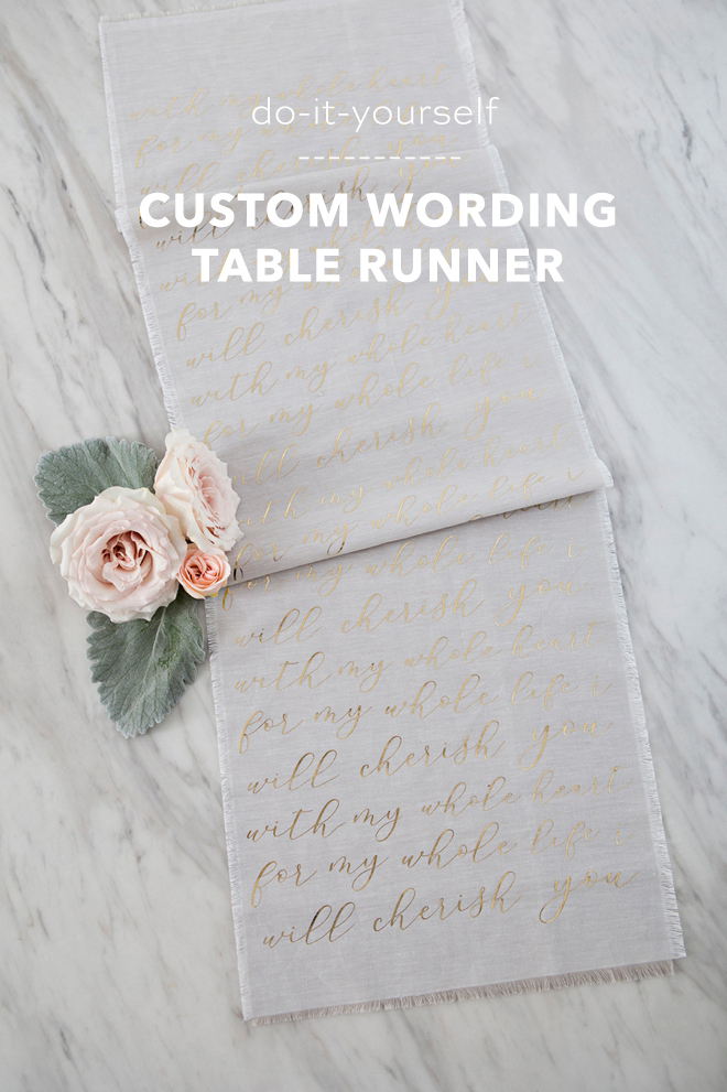How to create your own custom wording table runner with Cricut and Martha Stewart!