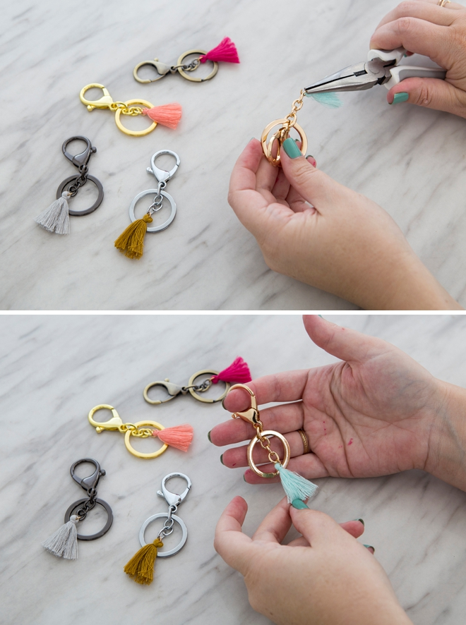 How to make adorable and easy bangle keychain bracelets!
