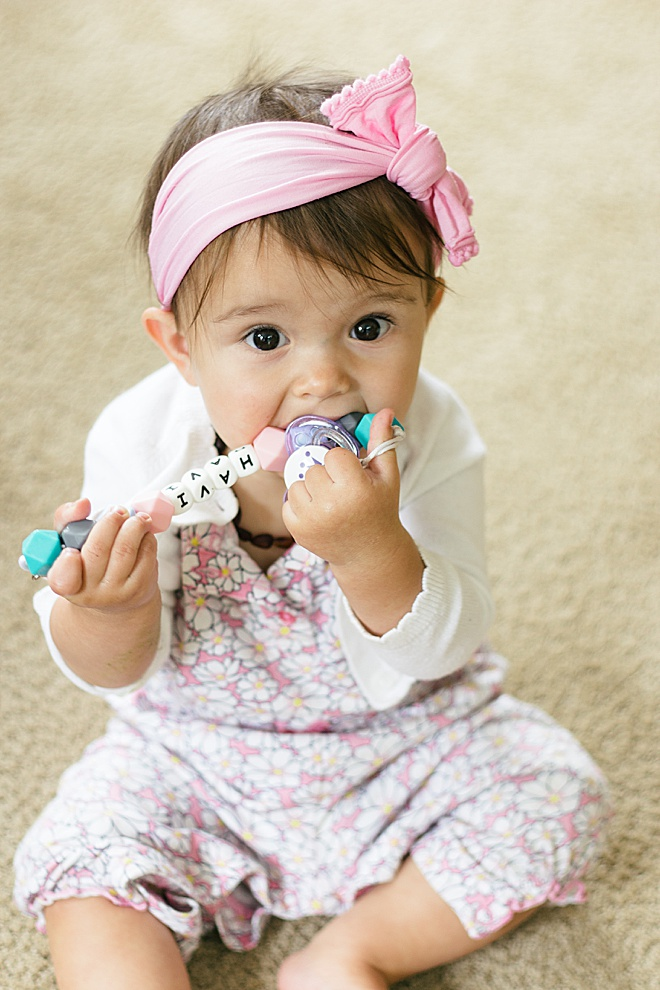 Your baby NEEDS this custom DIY pacifier clip!