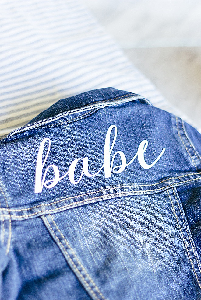 What could be more adorable than a jean jacket on a baby? Adding a little