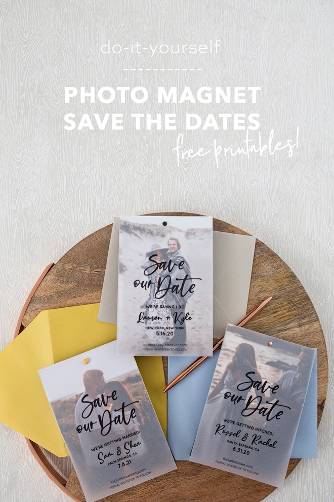 Edit and print these save the date invitations for free!