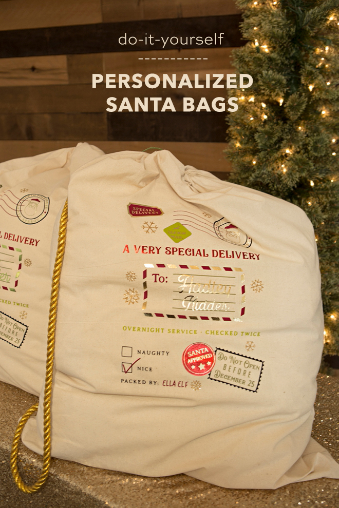 OMG, these DIY personalized Santa bags are just too cute!
