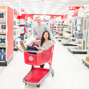 We can't get enough of this super adorable Target engagement session!