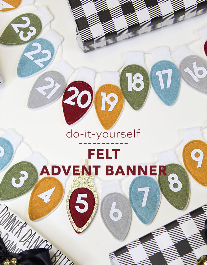 You don't want to miss this DIY Felt Advent Banner!