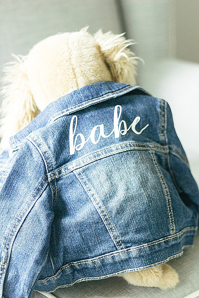 Personalized baby jean jacket with Cricut!