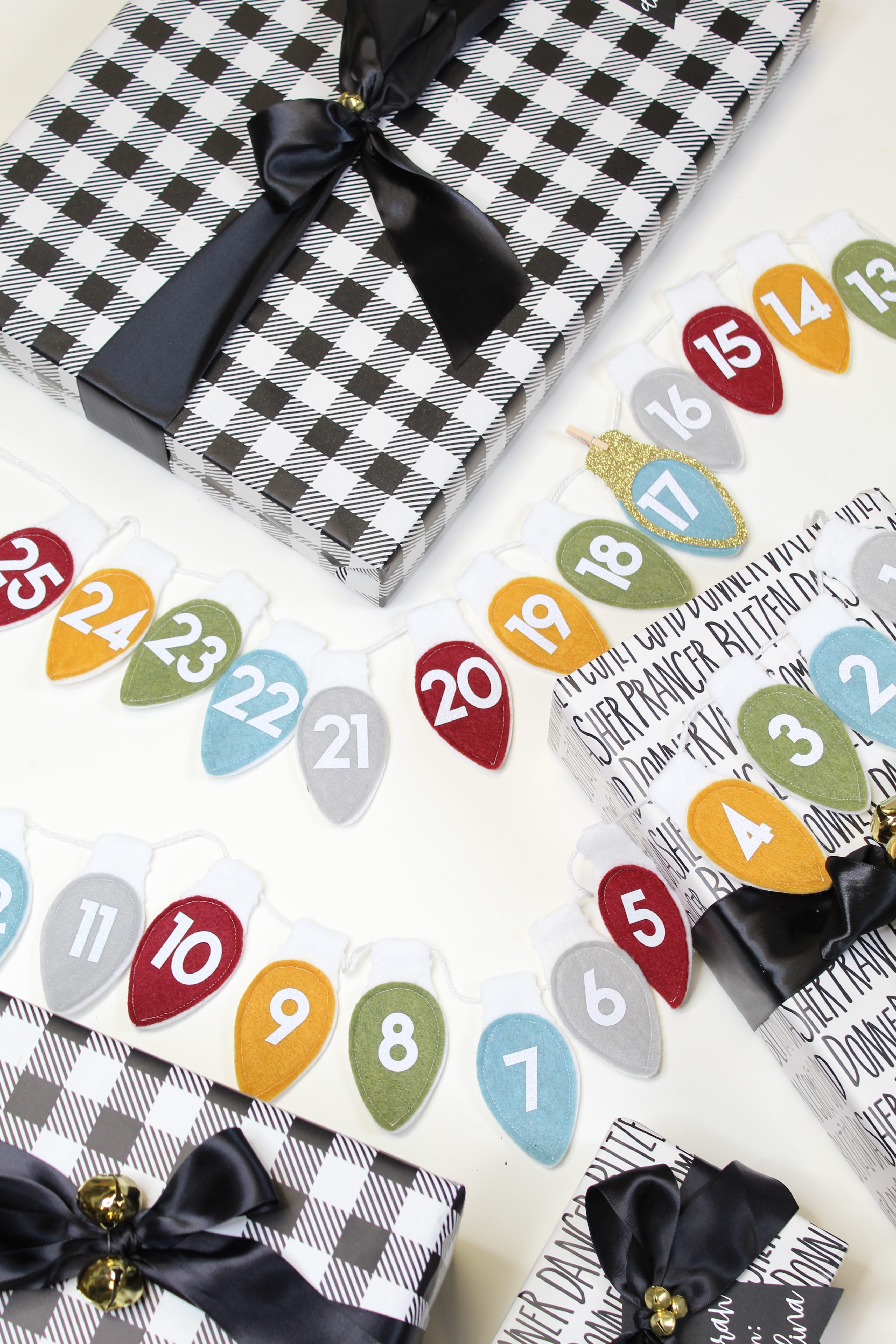 Get in the holiday spirit with this DIY felt advent banner!