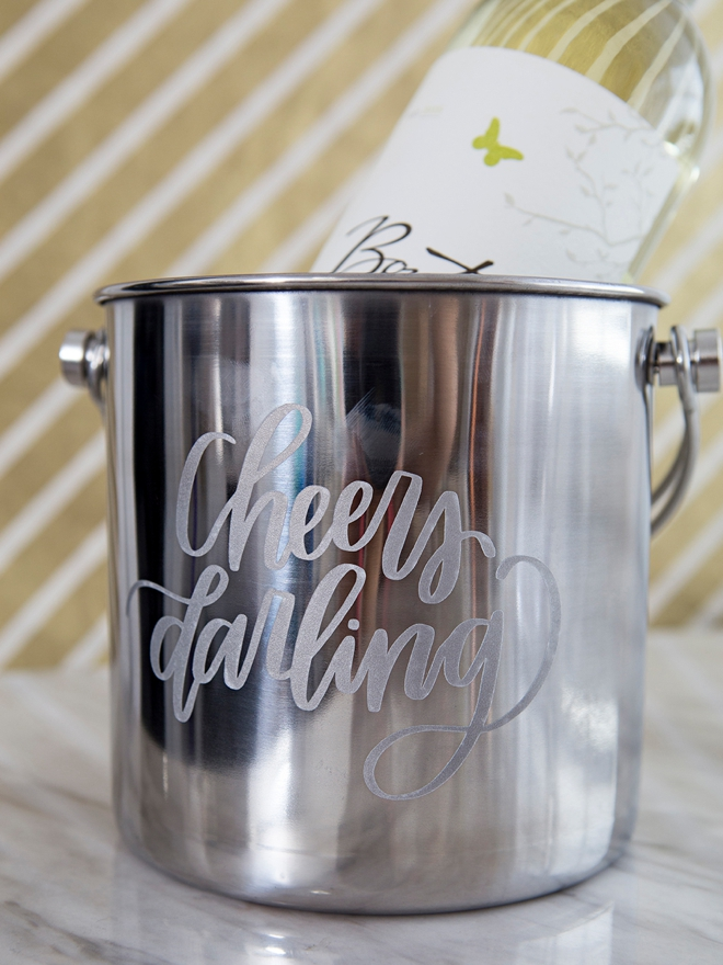 Personalized champagne and wine buckets, great holiday gifts!