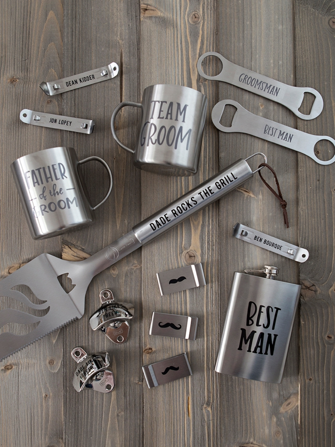 Personalized stainless steel manly gifts with Cricut!