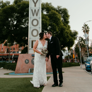 Obsessing over this adorable Mr. and Mrs. and their handmade day!