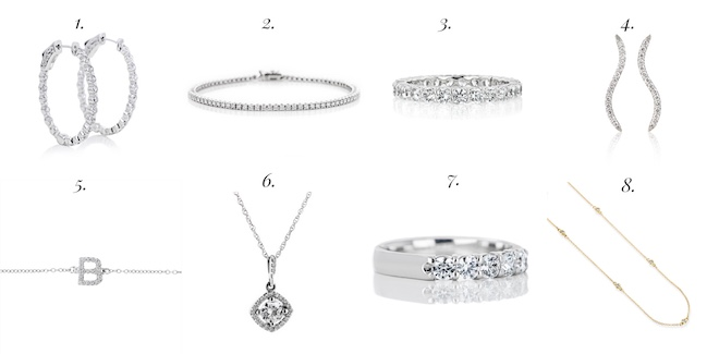 #diamond gift guide for every style. I want all these rings and necklaces!