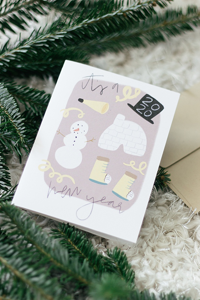 How CUTE are these free holiday card printables from Hein & Dandy?!