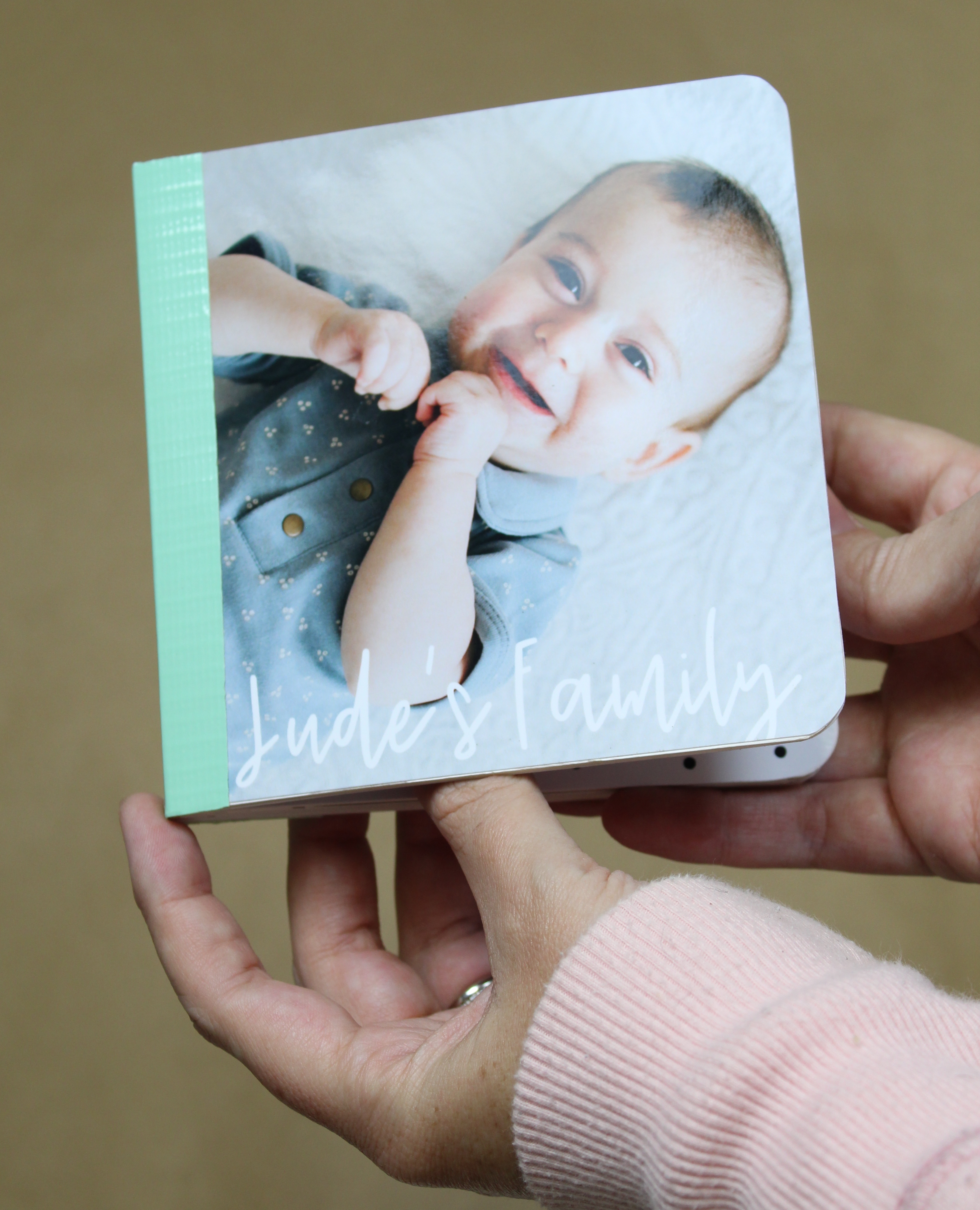 Create a totally adorable family board book for the little in your life!