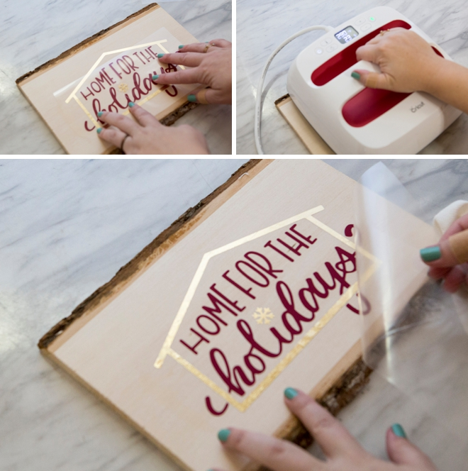 How to use Cricut iron-on on wood!