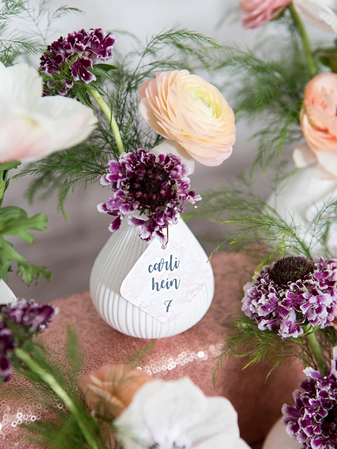 How to make gorgeous bud vase floral favors!