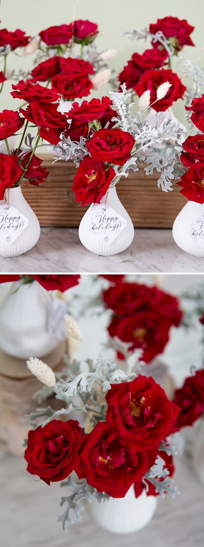 How to make holiday bud vase floral gifts!
