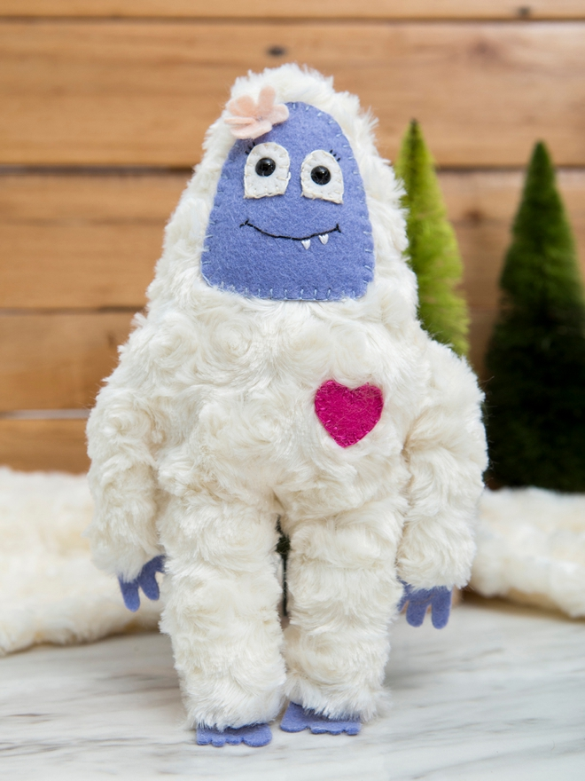 How to make your own yeti and big foot stuffed animals!