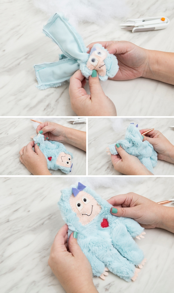 FREE printable big foot and yeti plushy pattern!