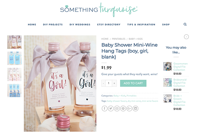 Visit Something Turquoise's craft file shop for the best craft printables!
