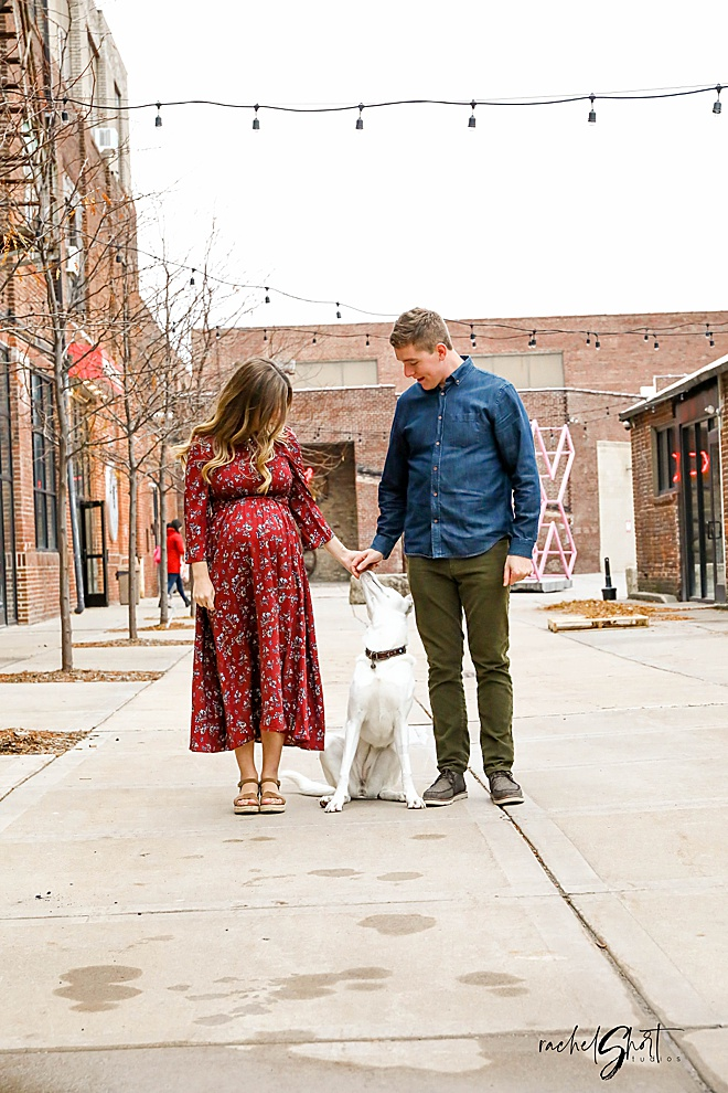 Swooning over these darling maternity photos in industrial Minnesota.
