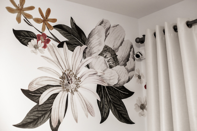 Urban Walls' Eden floral decals are such a cool and unique way to makeover a bedroom or living room. I love how they are layered; the possibilities are endless.