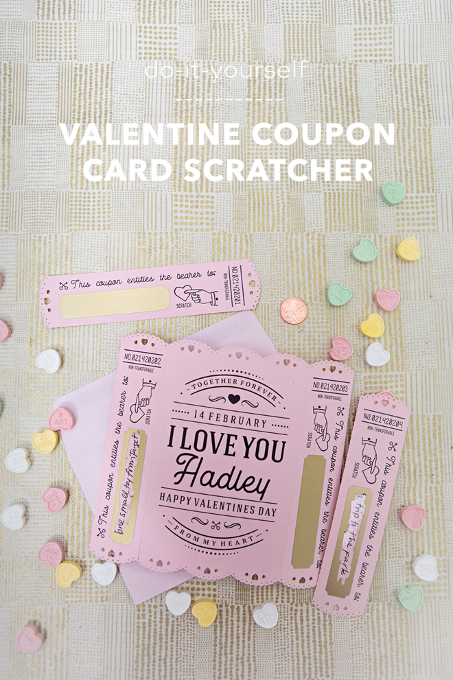 WOW! These Valentine Scratcher Coupon Cards were cut using the Cricut Maker!