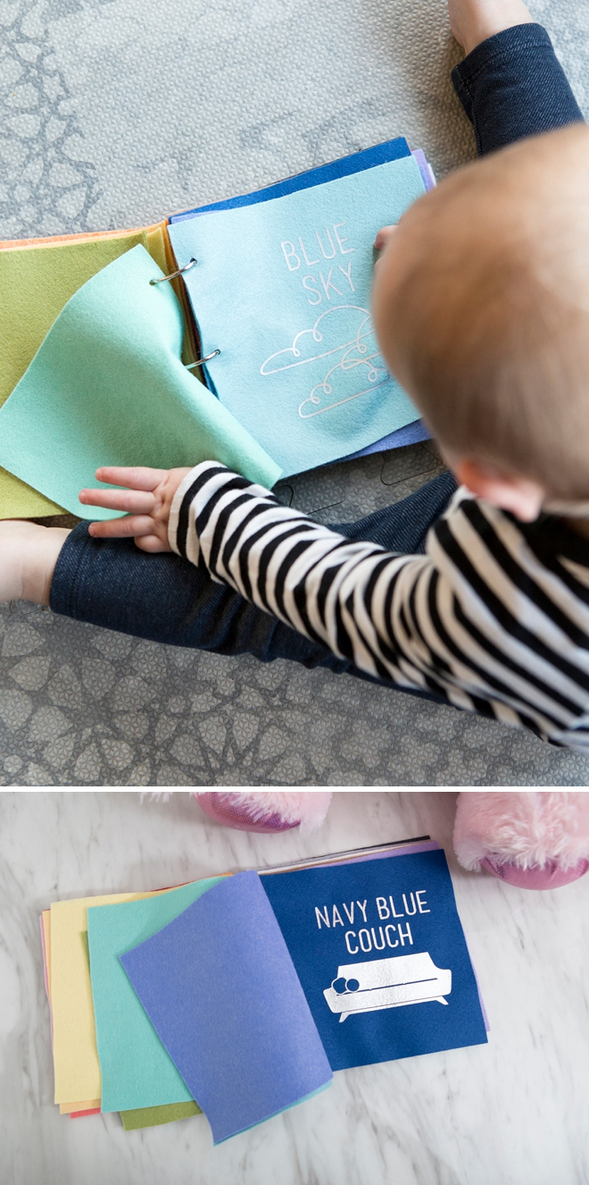 Learn how to make a felt book of colors for your toddler!