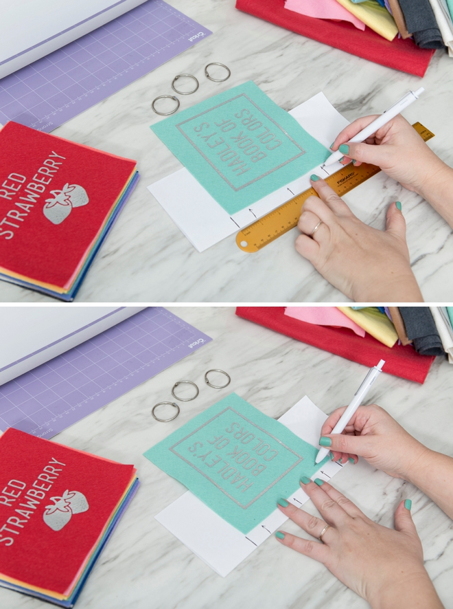 How to make an adorable custom felt book of colors!