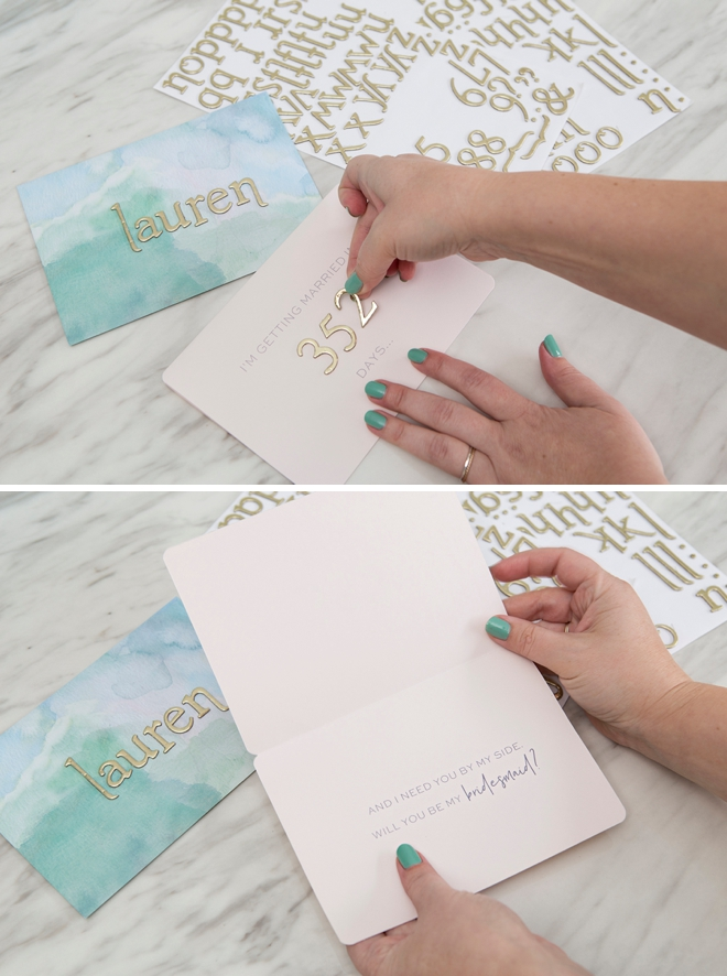 Free printable Will you be my... wedding cards!