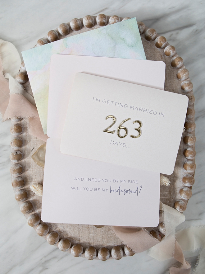 Add the number of days until you're getting married on these cards!