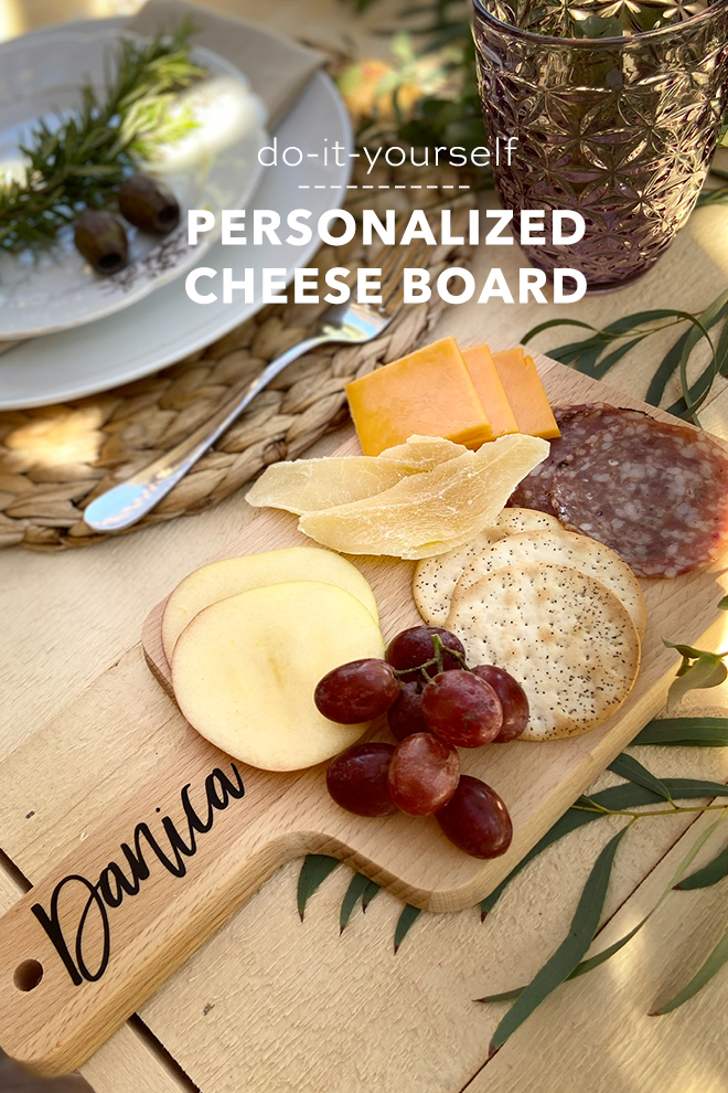 Create your own DIY Personalized Cheese Boards for your next event!