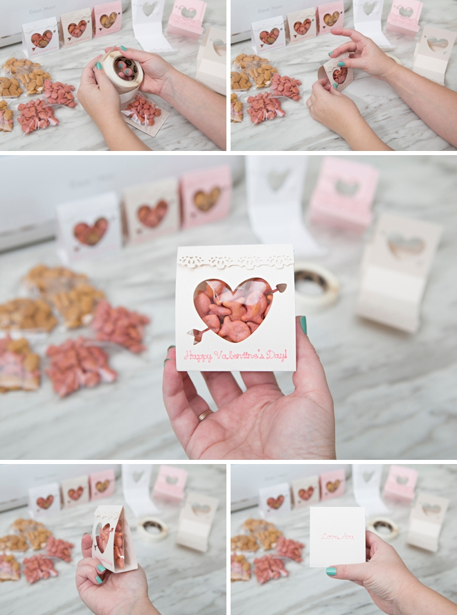 Use your Cricut to cut and make these Valentine treat pouches!