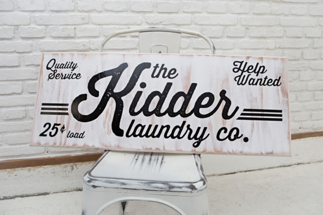 Learn how to make a custom laundry sign for your family!