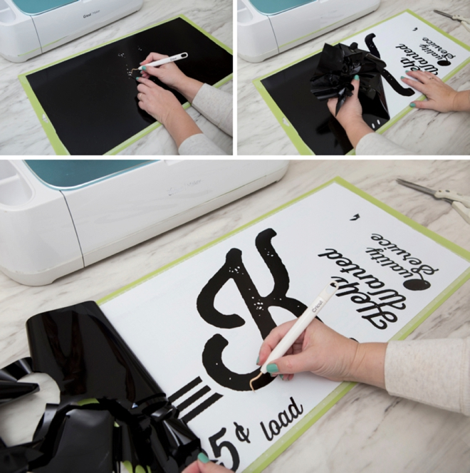How to make an oversized laundry sign using your Cricut!
