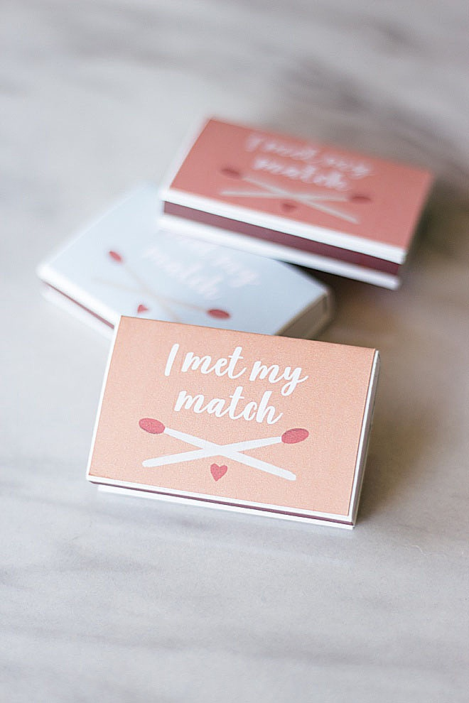 Let's get LIT with this adorable wedding favor matches DIY tutorial.