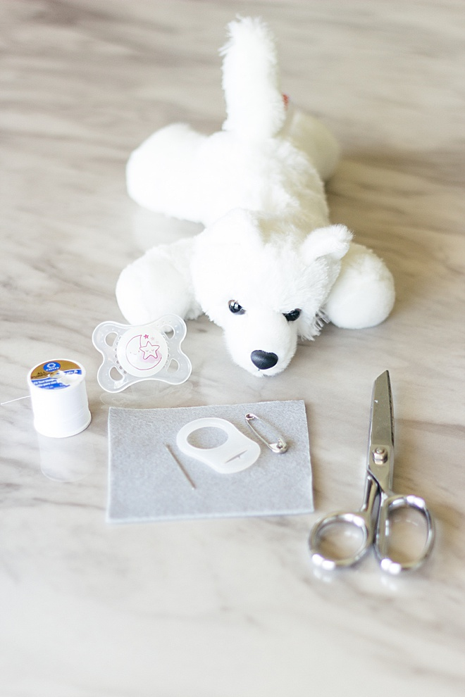 HOW CUTE! Now you can make a personalized stuffed animal pacifier holder!
