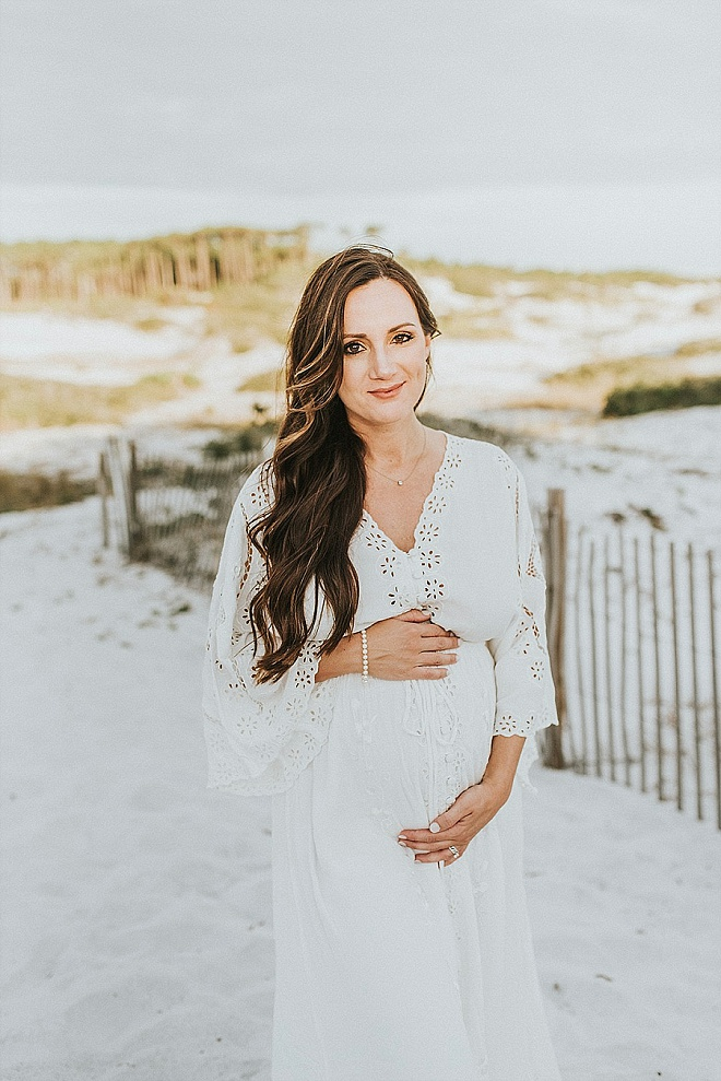 Gorgeous Boho Beach Maternity Portraits