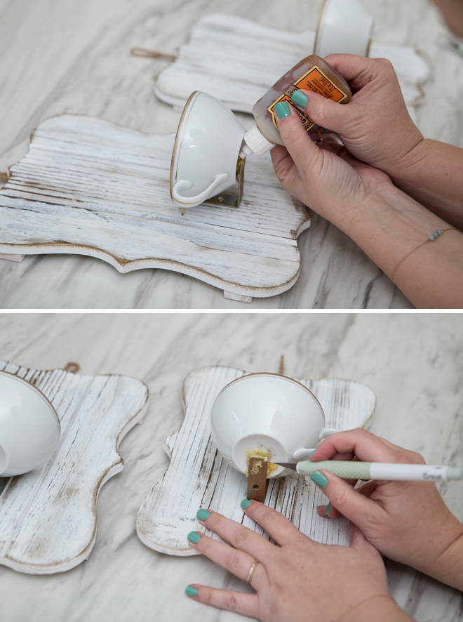 How to make vintage teacup candle holders!