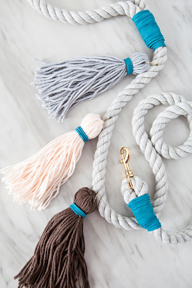diy tassel dog leash