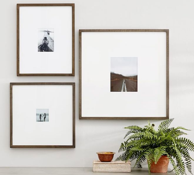 These oversized mat wood frames are amazing! They really elevate the look of the photos and lucky for me, there's an easy DIY so I can make them myself.
