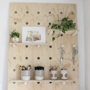 DIY Oversized Pegboard
