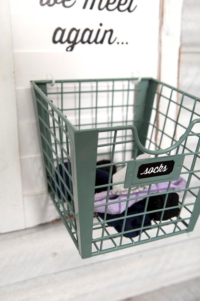 This DIY until we meet again, lost sock basket is adorable!