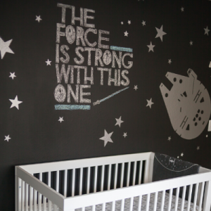 We are LOVING this adorable Star Wars themed nursery on the blog! Don't miss all of the adorable details!