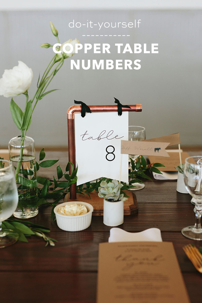 DIY Copper Table Number Tutorial