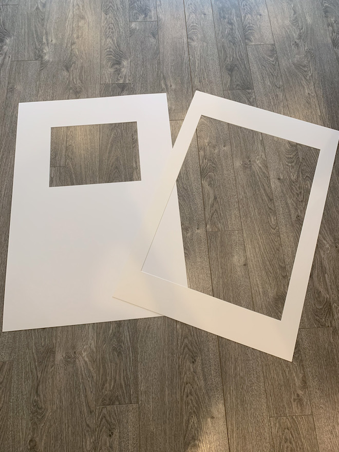 Changing out the matting of your picture frames is the easiest way to make them look more expensive. IKEA vs. custom mat DIY #ikeadiy #ikeahack #gallerywall