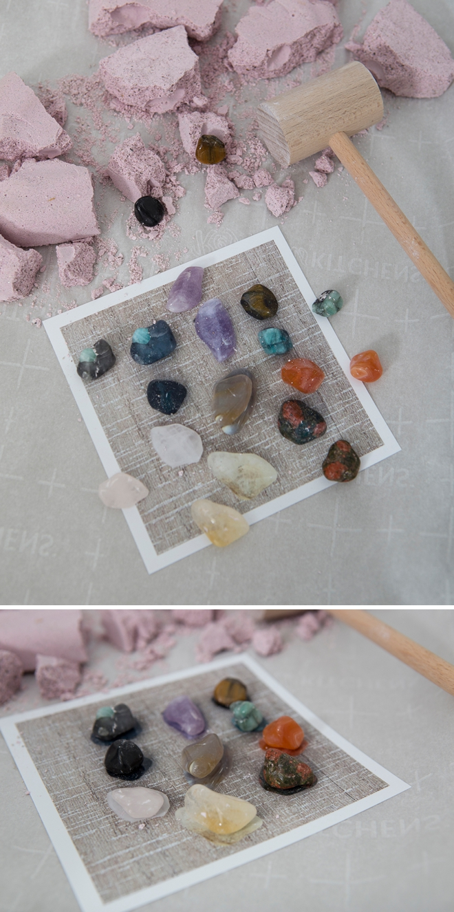 Make your own gemstone or fossil dig to beat quarantine boredom!