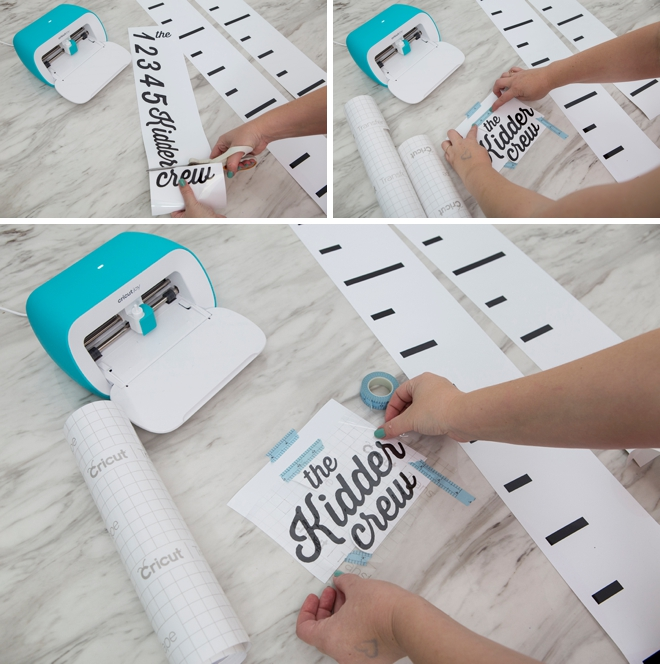 DIY personalized kids growth chart with Cricut Joy!