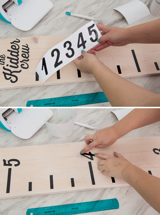 How to make an oversized ruler to mark kids growth!