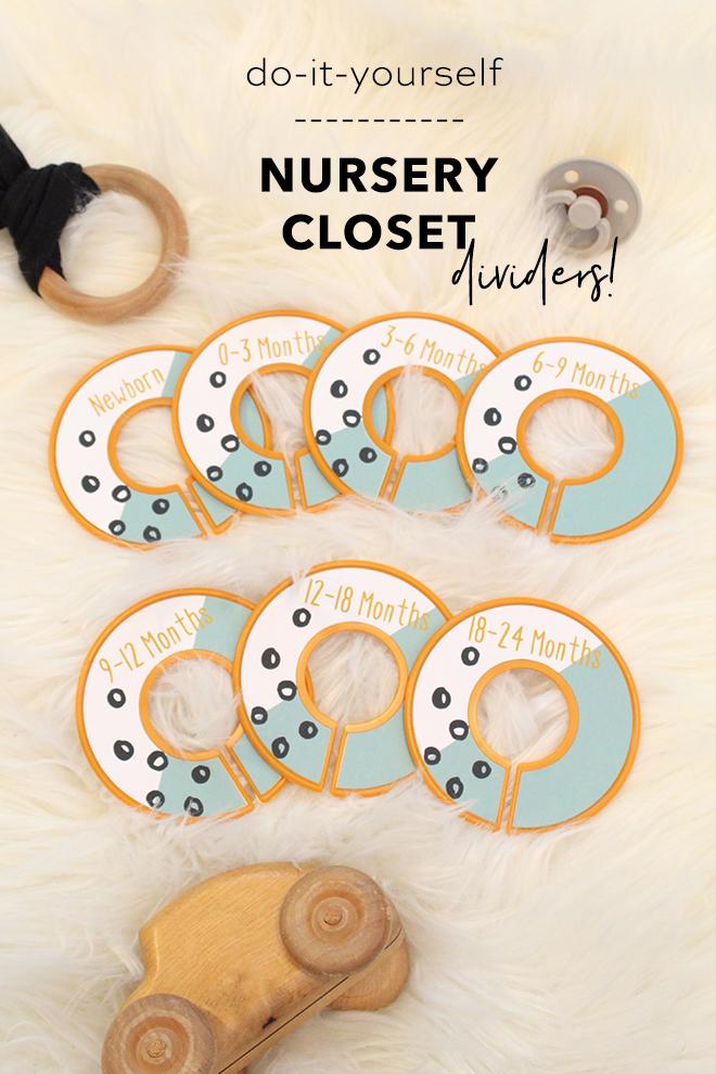 Create These Totally Custom Modern DIY Nursery Closet Dividers!