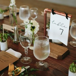 How to make Industrial Table Numbers